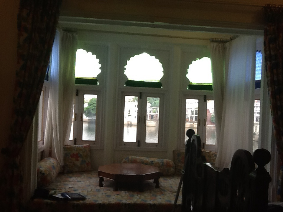 Our window seat at Jagat Niwas Palace