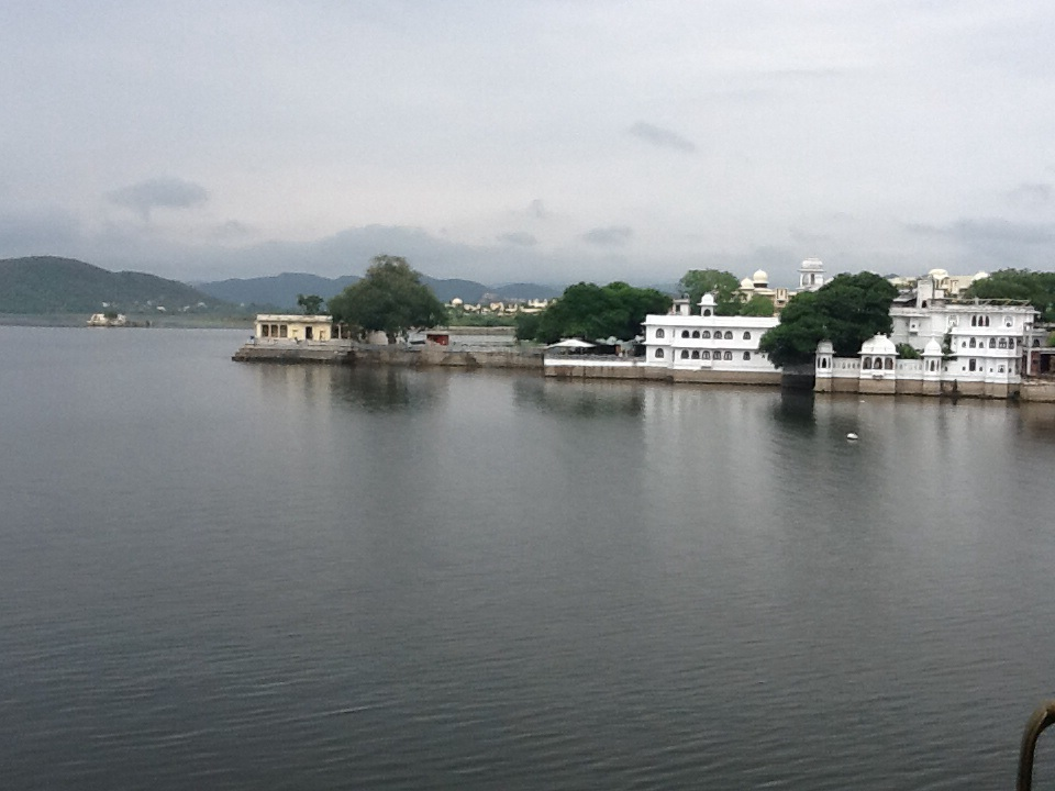 Morning in Udaipur-- the view from our window seat