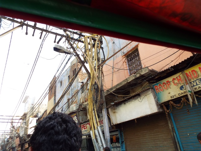 Old Delhi's infamous electrical wiring.