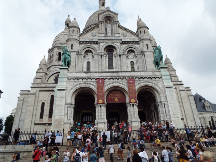 The Sacre Coeur , mocked and maligned as the Disney Castle by Montmartre natives and locals.