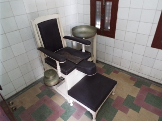 "The ""throne"" in the private toilet of the maharana's ailing grandfather."