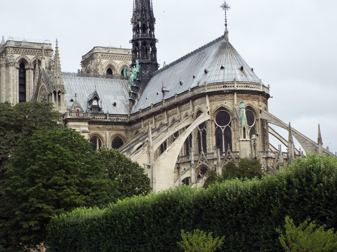 Notre Dame de Paris in all her buttressed glory.