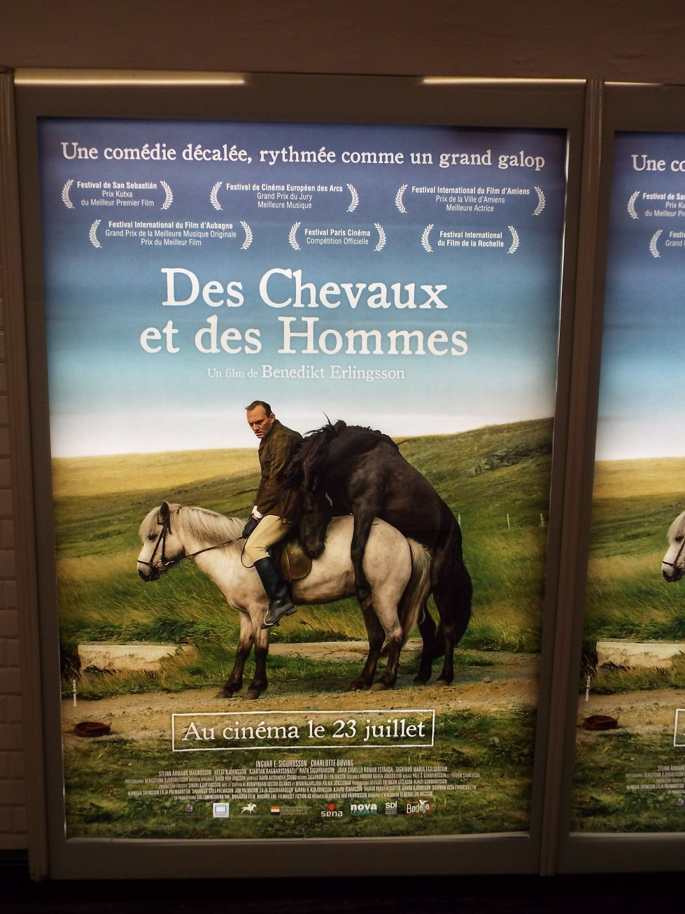 "Movie poster we saw on the Metro heading to Montmartre. Another one for the ""you can't make this stuff up"" file."
