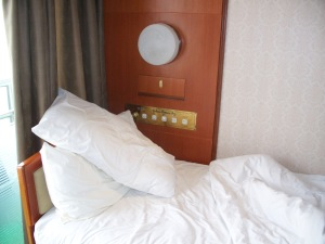 My peaceful little berth on board ship.