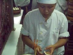 Crafting the dumplings