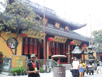 Outside the Jade Buddha Temple in Shaghai