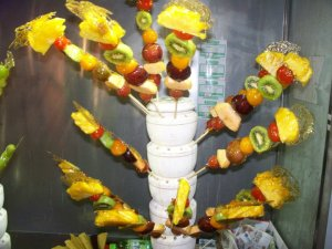 fruit on stick
