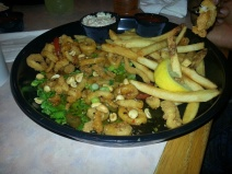 Kung pao calamari at Anthony's Seafood.