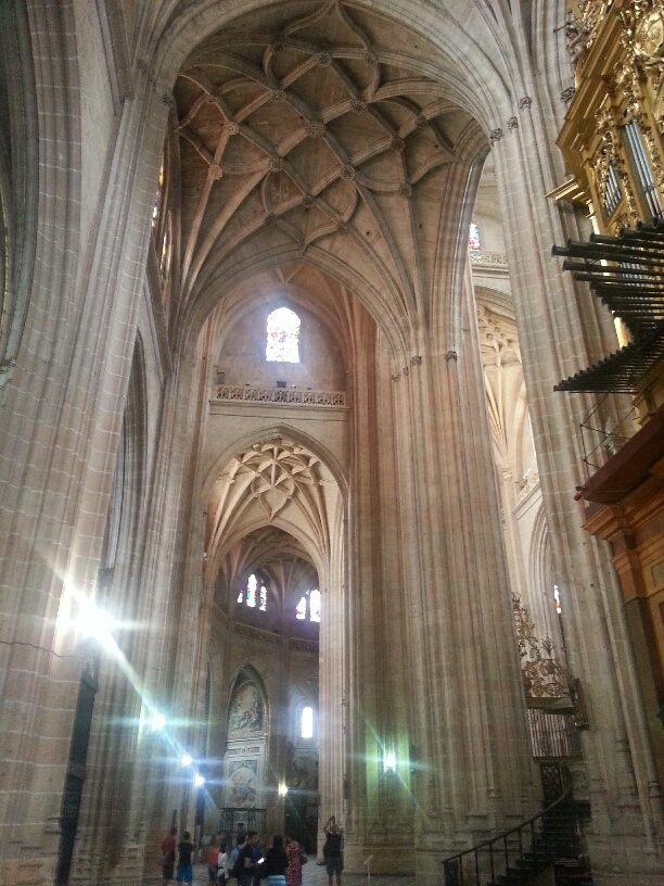 Inside the cathedral at Segovia