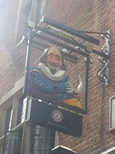The signage of Shakespeare's Head