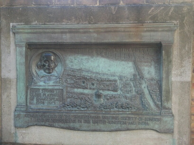 Shakespeare relief at the site of the original GlobeTheatre