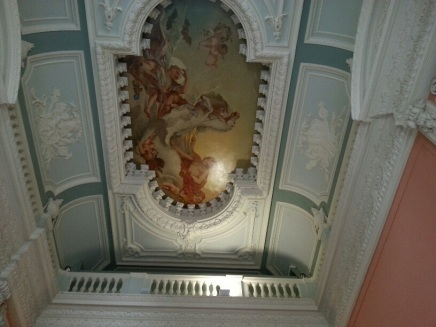 Ceiling mural at Dartmouth House, headquarters of the English Speaking Union.