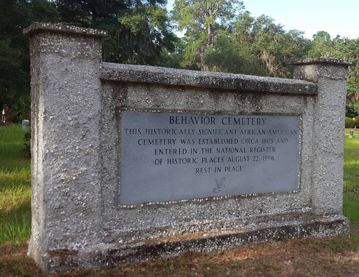 The cemetery's name is said to have come from a promise made by a Sapelo ancestor, the Muslim Bilali, assuring the island's then owner of his fellow slaves' good behavior if he didn't follow through on his threats to punish them.