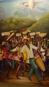 This painting hangs in the hallway of the Karibe Hotel in Petionville, our home-base in PauP.