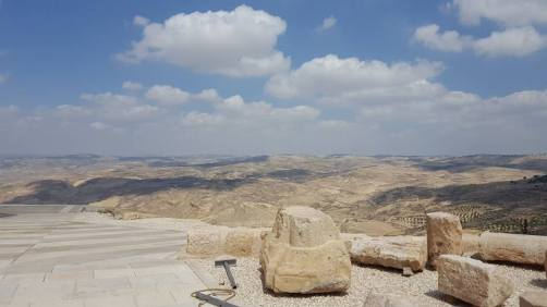 Moses' glimpse of The Promised Land from his deathbed on Mount Nebo