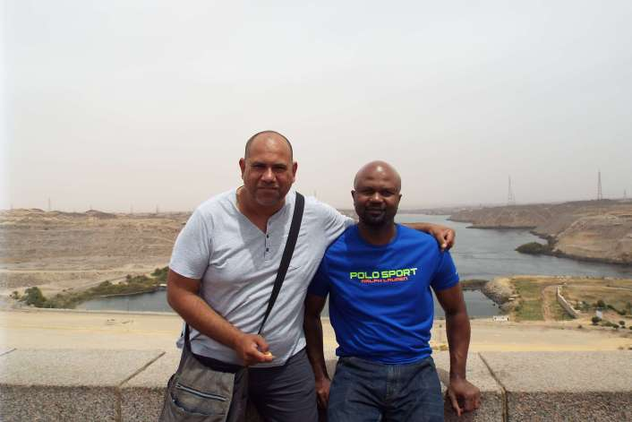 T and Magz at Aswan Dam