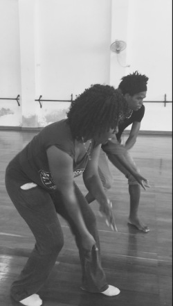 Our dance teachers, Lazara and Yosiel, show us how it's done.