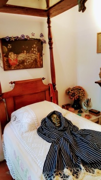 Frida's small bedroom overlooking her lovely garden. This was also ultimately her death bed.