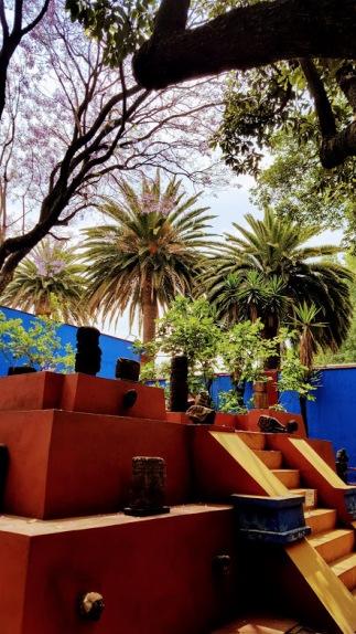 The pyramid in Frida's garden.