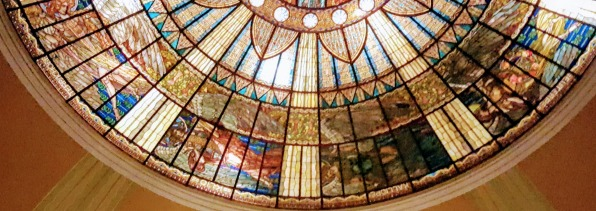 The Tiffany-designed dome of the Palacio de Bellas Artes