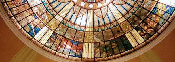 The Tiffany-designed dome of the Palacio de Bellas Artes